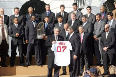 President Bush: Photo Opportunity and Remarks to the Boston Red Sox
